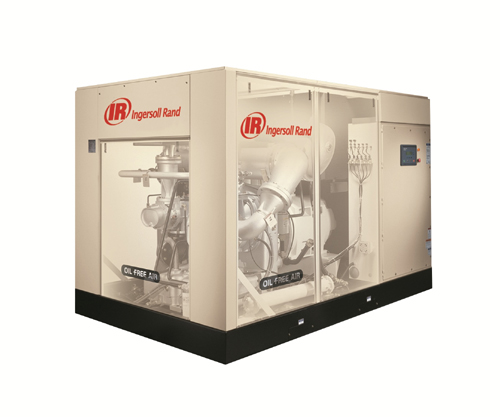 Rotary oil free screw air compressor