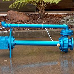 column centrifugal sump pumps