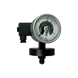 Diaphragm pressure gauges P10 with alarm contacts