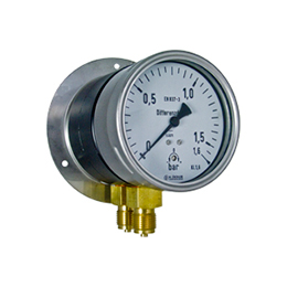 Differential pressure gauges with Bourdon tube element DM10