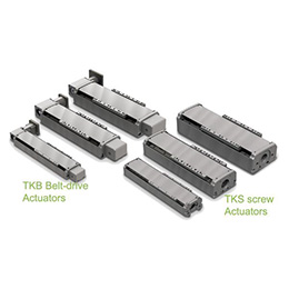 TKS Screw and TKB Belt Drive Linear Actuators