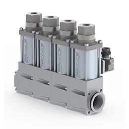Co-ax manifold valves