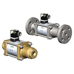 Co-ax solenoid coaxial valves
