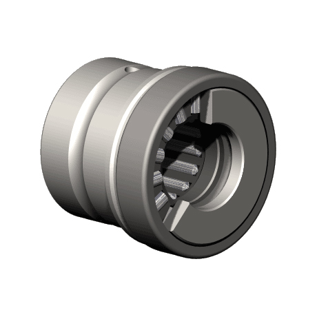COMBINED BEARING WITH INCORPORATED THRUST PLATE RAXPZ