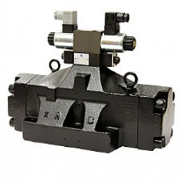 pilot or hydraulic operated directional control valves dn32
