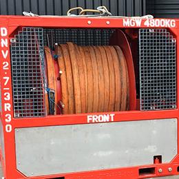 Air driven hose reel 1