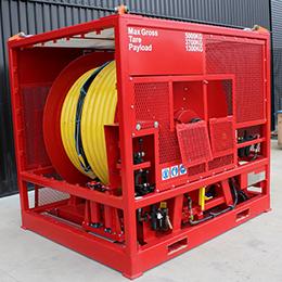 Air driven hose reel 2