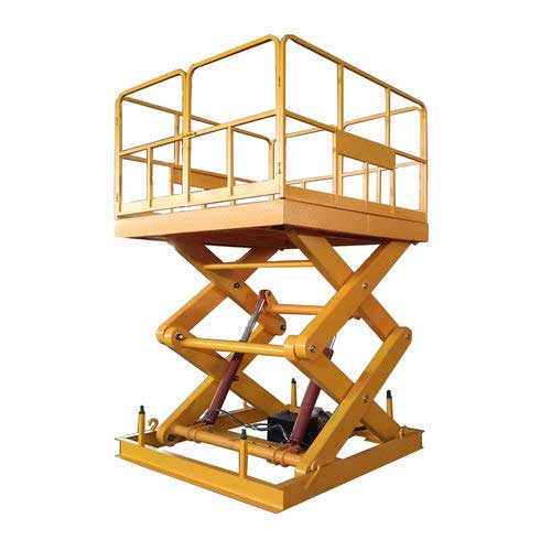Fixed scissor lift / indoor/outdoor / compact / electric SJG4