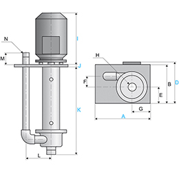 Vertical Centrifugal Pump CTV 25-9.8 stainless