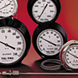 gas actuated dial thermometers
