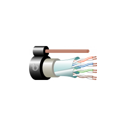 Computer LAN Cat. 5e 4x2x24/1 AWG U/F/UTP + 17 AWG CCS Fig-8 Double Jacket Outdoor UL1581-VW1/CMX