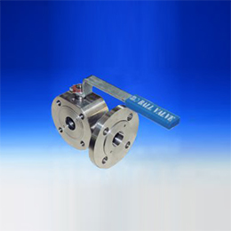 three-way ball valve wafer type with 3 or 4 seats reduced bore