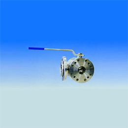 three-way ball valve wafer type with four seats reduced bore