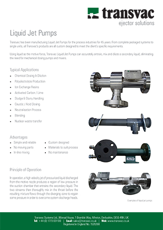 Liquid Jet Pumps