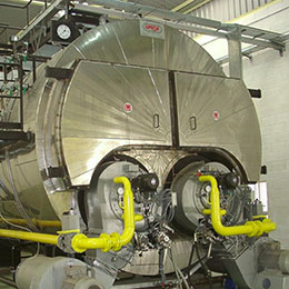 Conventional firetube steam boiler UMS