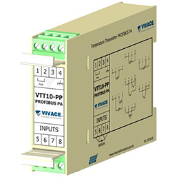 Temperature Transmitter and 4-20 mA Converter Profibus-PA VTT10-PP