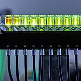 light transmission with fiber optics