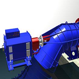 s type pipe turbine