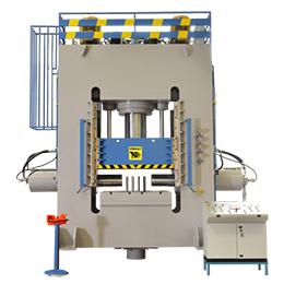 Multifunctional monoblock hydraulic press 600 + 250 + 250 ton