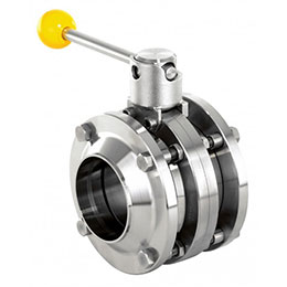 butterfly valve-intermediate flange