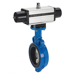 wafer butterfly valve and sr pneumatic actuator